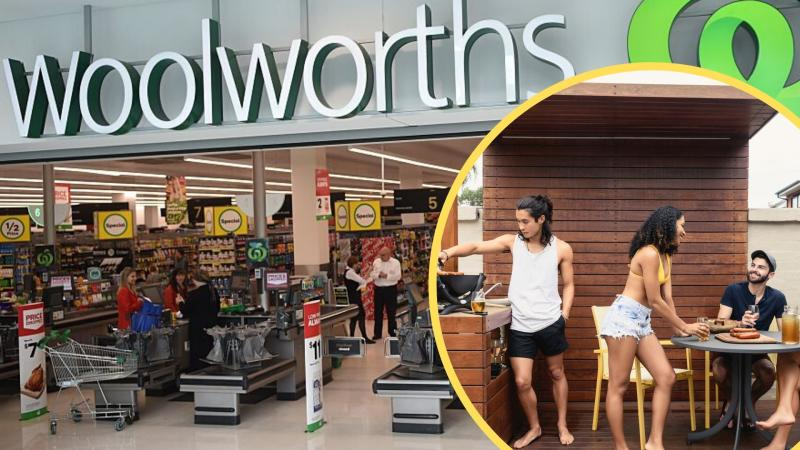 Pictured: Woolworths store, people at Australia day bbq. Images: Getty