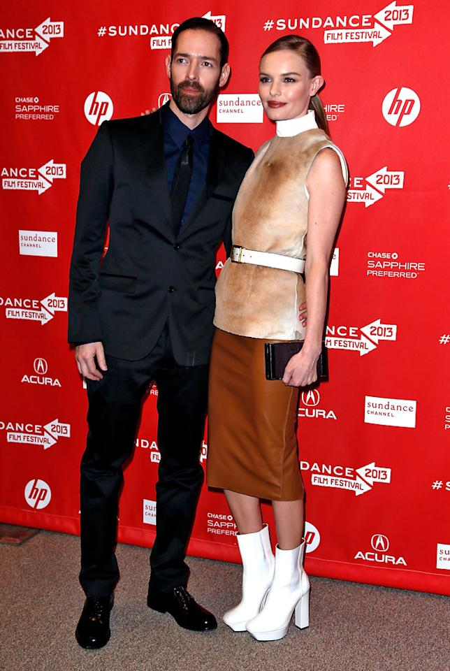 "PARK CITY, UT - JANUARY 23:  Michael Polish and Kate Bosworth attend the ""Big Sur"" Premiere during the 2013 Sundance Film Festival at Eccles Center Theatre on January 23, 2013 in Park City, Utah.  (Photo by Alexandra Wyman/Getty Images)"