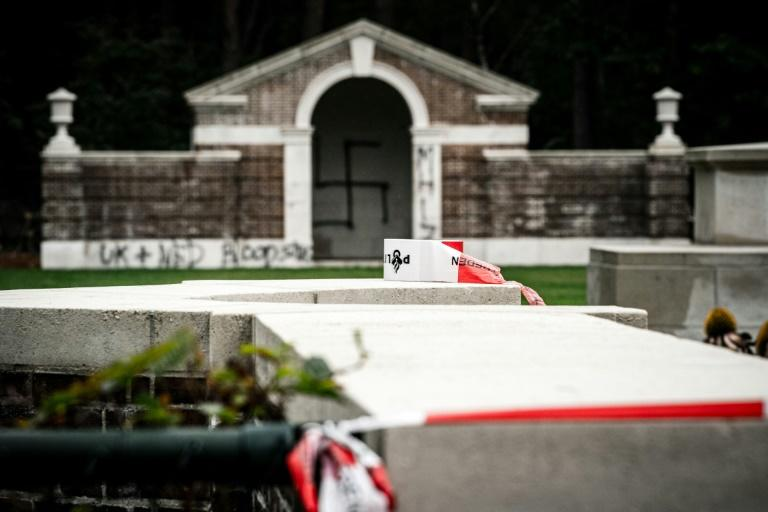 It is the second time the cemetery has been vandalised within a week