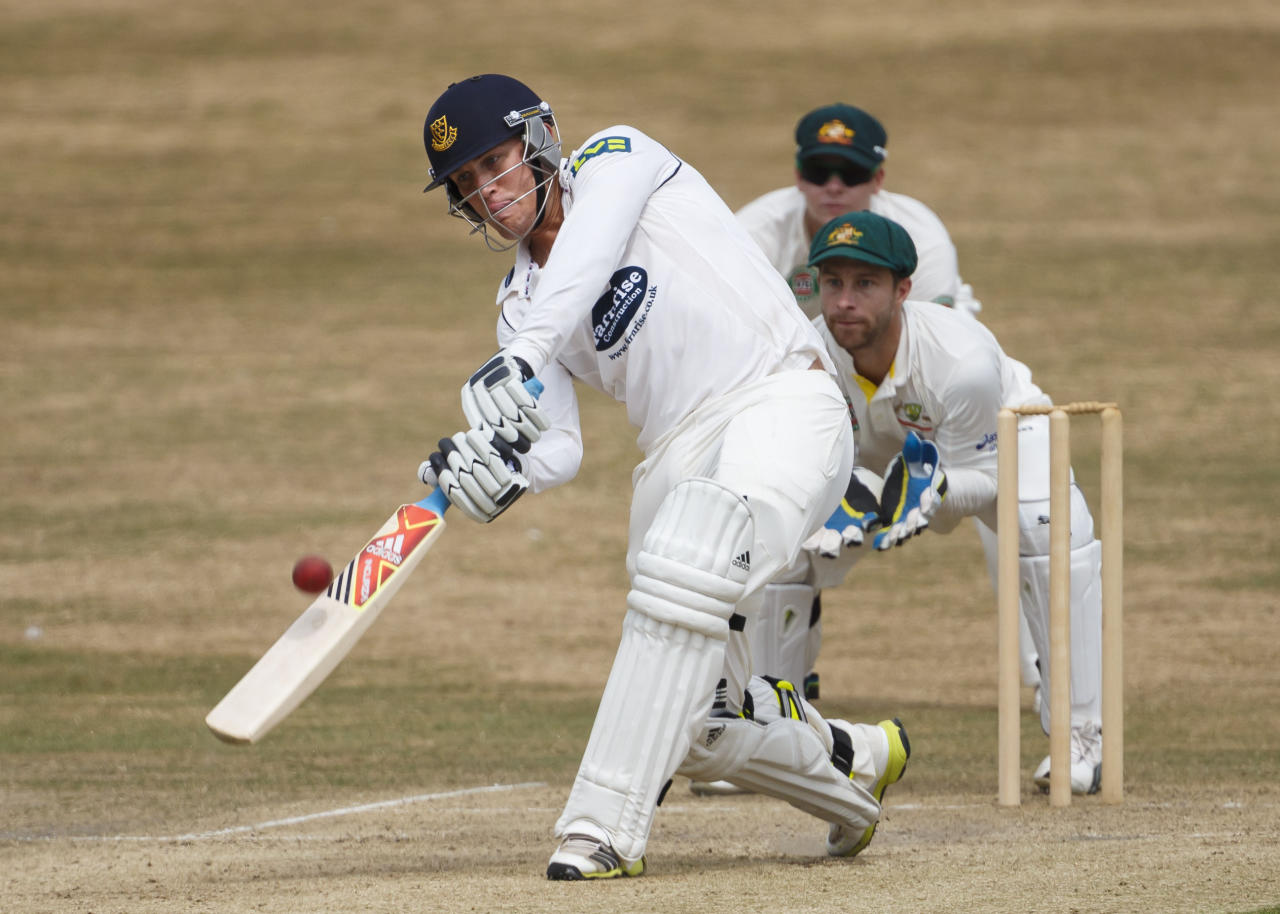 Sussex's Rory Hamilton-Brown in action during day two of the international tour match against Australia at the BrightonandHoveJobs.com County Cricket Ground, Hove.