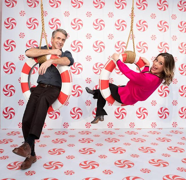<p>The holidays are in full swing for Mulroney and Williams, who hung around at the opening of Hallmark's Museum of Christmas on Tuesday in New York City. The actor stars with Ashley's sister, Kimberly Williams-Paisley, in <em>The Christmas Train</em>, which premieres on the Hallmark Channel on Nov. 25. Williams stars in <em>Christmas in Evergreen</em>, which premieres on Dec. 2. (Photo: Noam Galai/WireImage) </p>