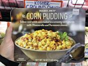 <p>Think of corn pudding like delicious corn and delicious cheese all mixed together in a savory side. It's a total step up from creamed corn.</p>