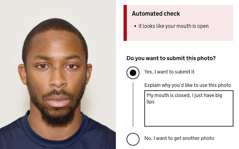 Joshua Bada's online passport photo application - PA
