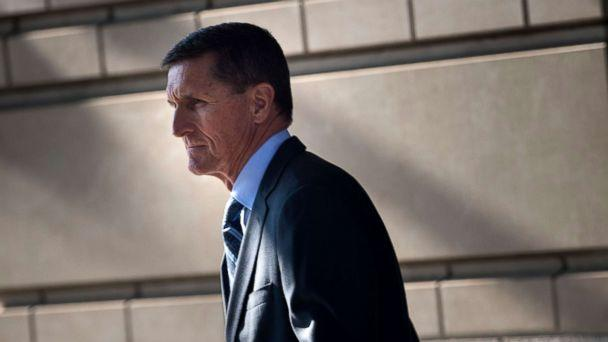 PHOTO: Gen. Michael Flynn, former national security adviser, leaves Federal Court Dec. 1, 2017 in Washington, DC, after he pleaded guilty to one count of lying to the FBI about his back-channel negotiations with the Russian ambassador. (Brendan Smialowski/AFP/Getty Images)