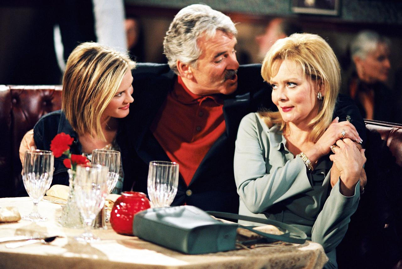 """Bonnie Somerville, Dennis Farina, and Jean Smart in NBC's """"In-Laws."""""""