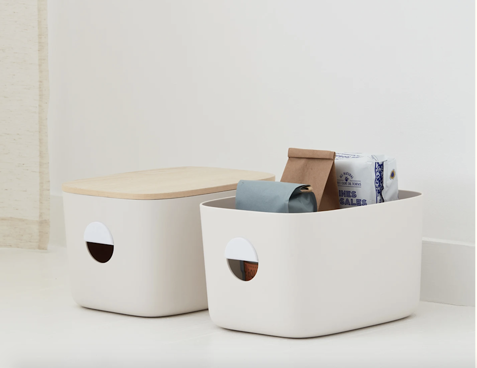"""<br><br><strong>Open Spaces</strong> Medium Storage Bins Set, $, available at <a href=""""https://go.skimresources.com/?id=30283X879131&url=https%3A%2F%2Ffave.co%2F2LneOu9"""" rel=""""nofollow noopener"""" target=""""_blank"""" data-ylk=""""slk:Open Spaces"""" class=""""link rapid-noclick-resp"""">Open Spaces</a>"""