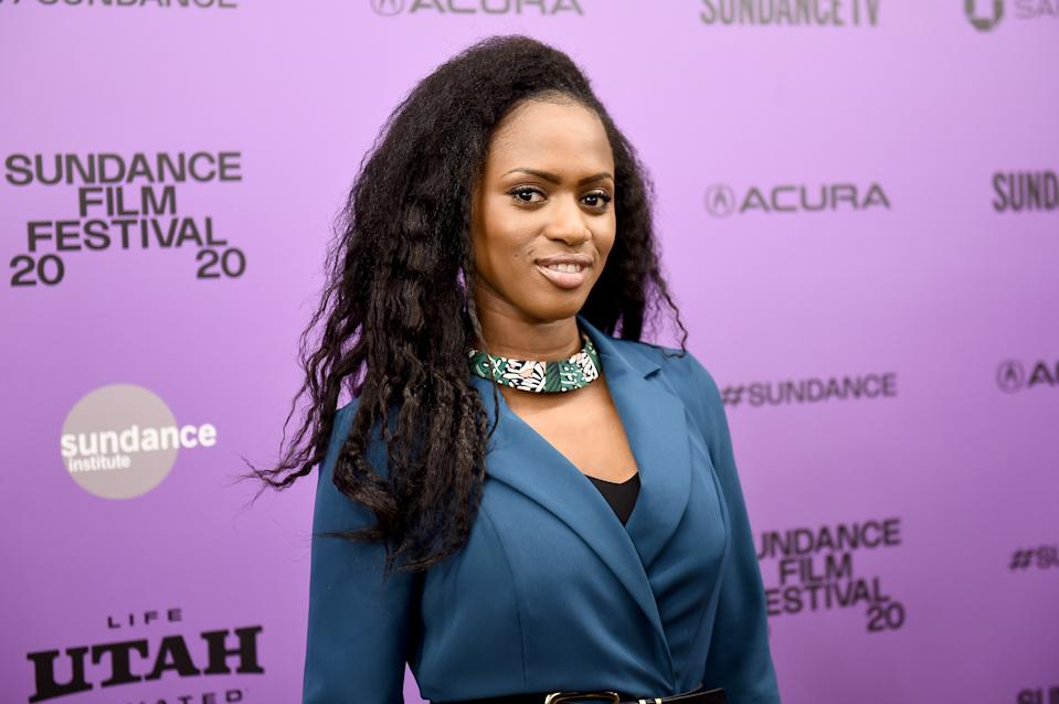 "PARK CITY, UTAH - JANUARY 23: Director Maïmouna Doucouré attends the ""Cuties"" premiere during the 2020 Sundance Film Festival at Egyptian Theatre on January 23, 2020 in Park City, Utah. (Photo by Ilya S. Savenok/Getty Images)"