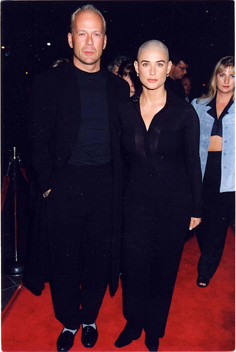 Bruce Willis and Demi Moore at the premiere of If These Walls Could Talk in October 1996. (Getty Images)