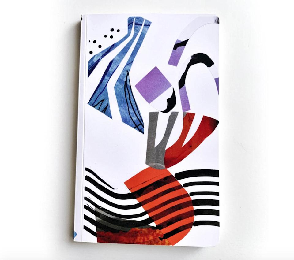 """<p>Perfect for the parent who's always making a list and checking it twice, or a friend who's taken up journaling over a tumultuous year, these hand-bound notebooks featuring the designs of Los Angeles artist K'era Morgan, are so pretty they don't require wrapping!</p> <p><strong>Buy It!</strong> $24; <a href=""""https://www.k-apostrophe.com/notebooks/orange-amp-teal-journal-notebook"""" rel=""""nofollow noopener"""" target=""""_blank"""" data-ylk=""""slk:k-apostrophe.com"""" class=""""link rapid-noclick-resp"""">k-apostrophe.com</a></p>"""