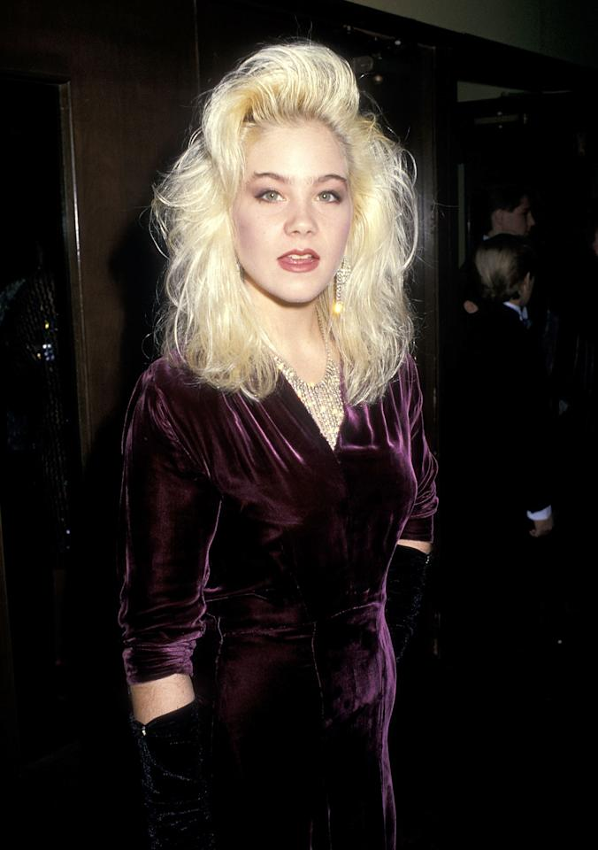 <p>If you had fine hair, like <em>Married With Children</em> actress and '80s It-Girl Christina Applegate, all-over volume might not have been an option. The only solution was to compensate by directing all of your efforts to your bangs. It let people know you tried, and helped you create the illusion of big, voluminous hair. Still, TLC said it best about 10 years later: Don't go chasing waterfalls...of the fringe variety, that is.</p>