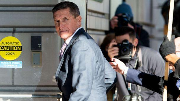 PHOTO: Former US national security advisor general Michael Flynn arrives for his sentencing hearing at US District Court in Washington, Dec. 18, 2018. (Saul Loeb/AFP/Getty Images, FILE)
