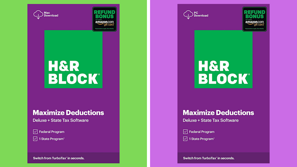 Save nearly 30 percent on H&R Block Deluxe 2020 (Federal & State). (Photo: Amazon)