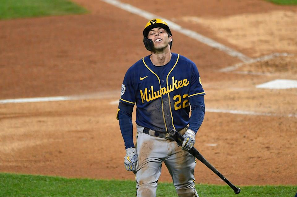 After going on the injured list April 12 with back pain, Brewers outfielder Christian Yelich returned to action for one game before being sidelined another two weeks.
