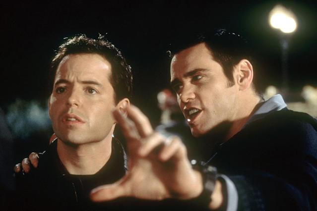 THE CABLE GUY, Matthew Broderick, Jim Carrey, 1996, (c) Columbia/courtesy Everett Collection