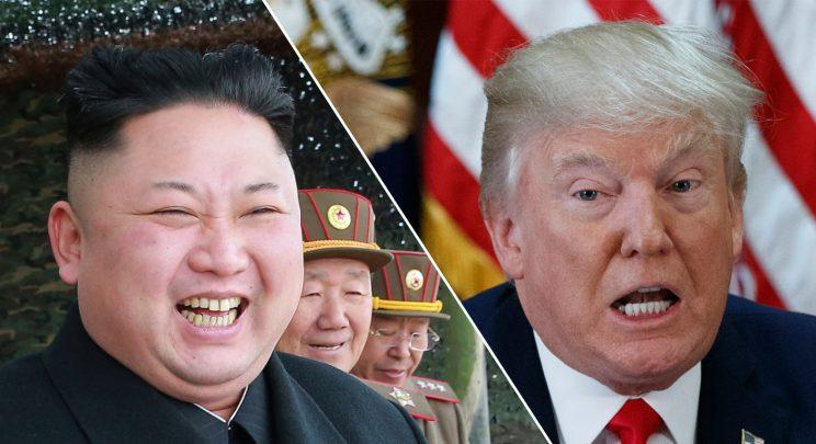 Leader of North Korea Kim Jong-un and U.S. President Donald Trump (Getty Images)