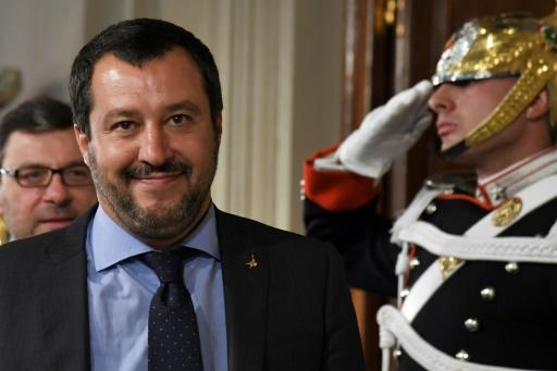 "Matteo Salvini, leader of Italy's far-right League party, has said he will work to ""stop the landings"" of African migrants once in power"