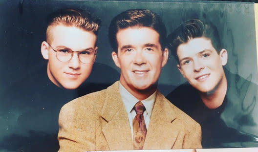 "<p>It's Robin Thicke's first Father's Day since he lost his dad, Alan. ""Best Dad ever!"" wrote the singer, who is now dad to a little boy himself. (Photo: <a href=""https://www.instagram.com/p/BVfDAX3npzW/?taken-by=robinthicke"" rel=""nofollow noopener"" target=""_blank"" data-ylk=""slk:Robin Thicke via Instagram"" class=""link rapid-noclick-resp"">Robin Thicke via Instagram</a>) </p>"