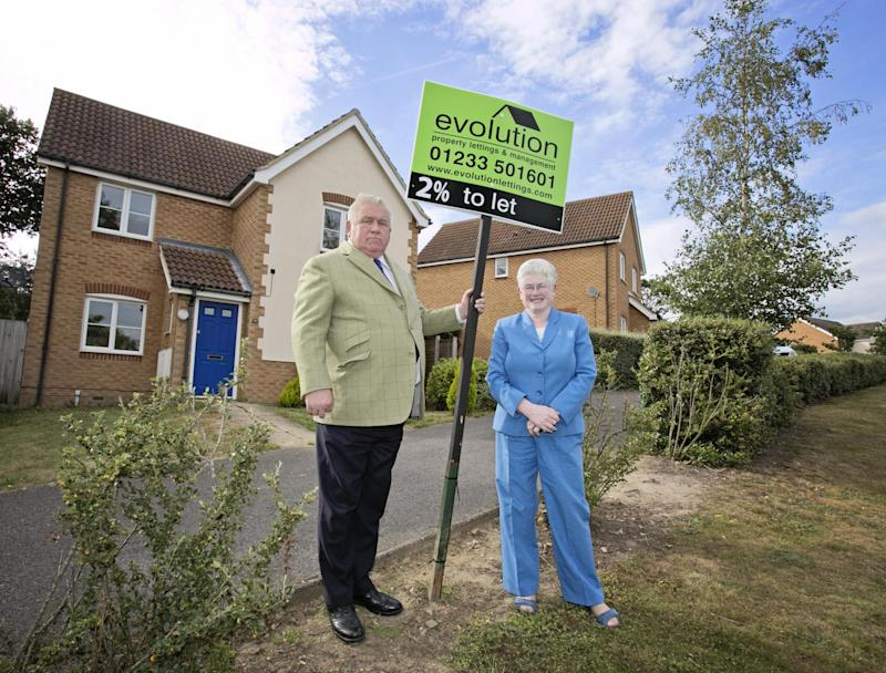 Kent property tycoons Fergus and Judith Wilson own more than 1,000 homes which they let out to tenants: Jenny Goodall/Rex