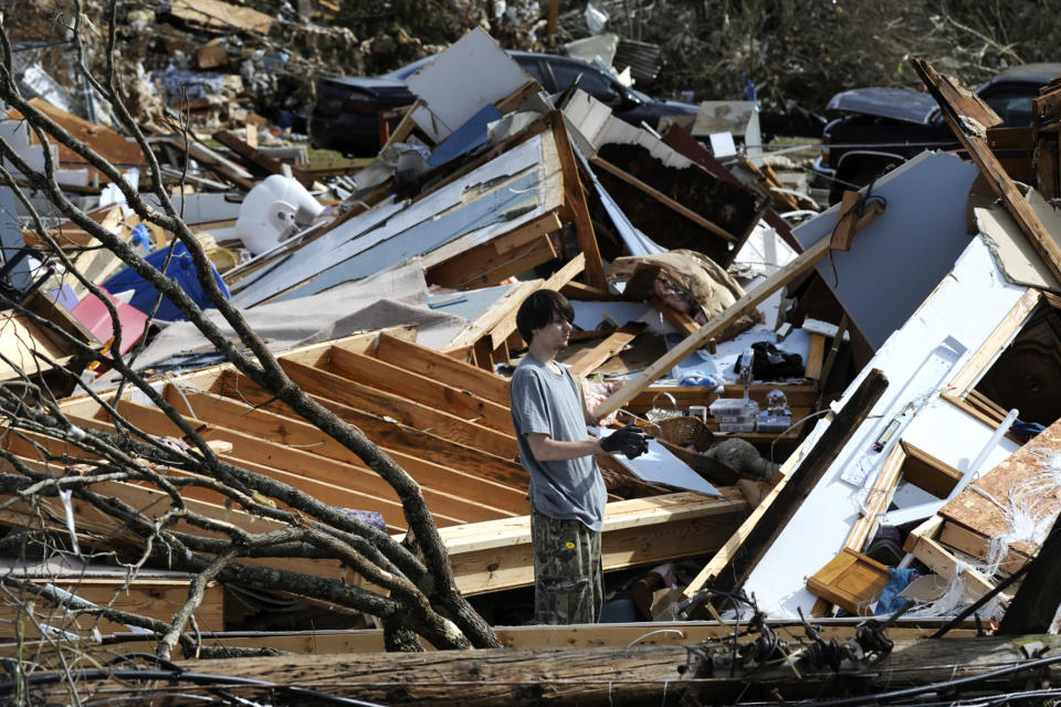 Image: Tornado Rips Through Fultondale, Alabama Damaging Structures (Jay Reeves / AP)