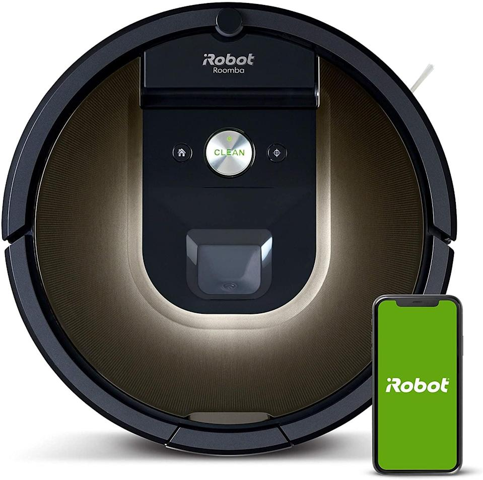<p>The <span>iRobot Roomba 981 Robot Vacuum-Wi-Fi Connected Mapping</span> ($406, originally $500) is the home helper he never knew he needed. It will clean pet hair, carpets, and hard floors. It works with Alexa so he can schedule it to clean whenever he wants.</p>