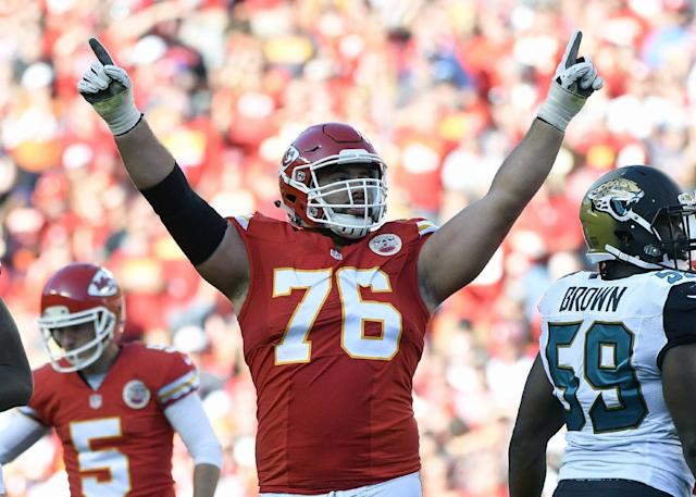 Kansas City Chiefs offensive lineman Laurent Duvernay-Tardif will graduate from medical school on Tuesday. (AP)