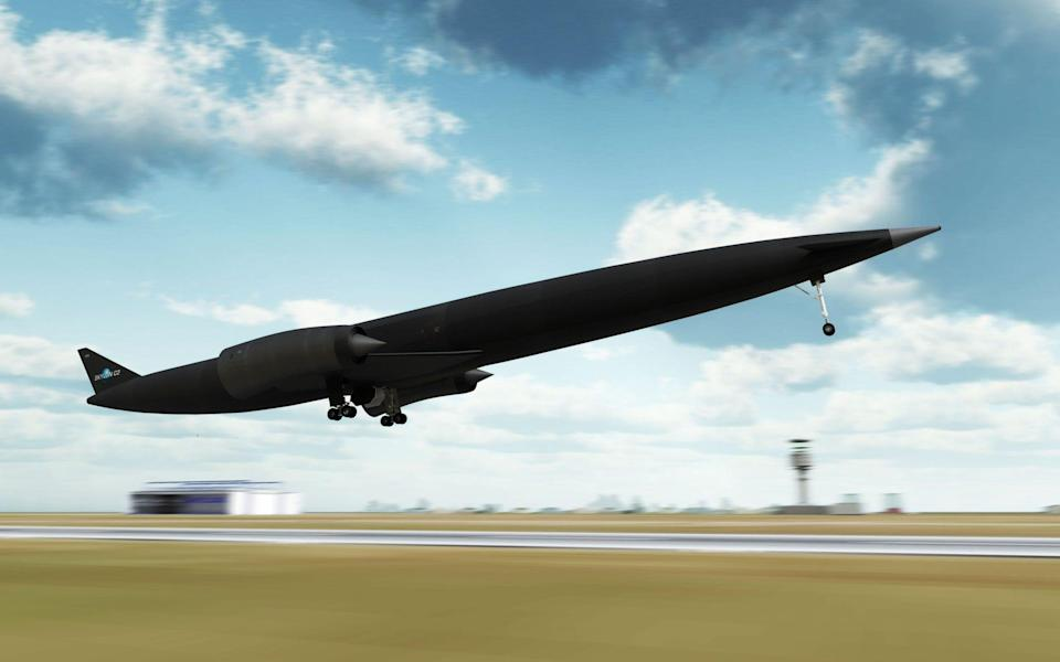 An artist's impression of the Skylon spaceplane - Reaction Engines/Reaction Engines