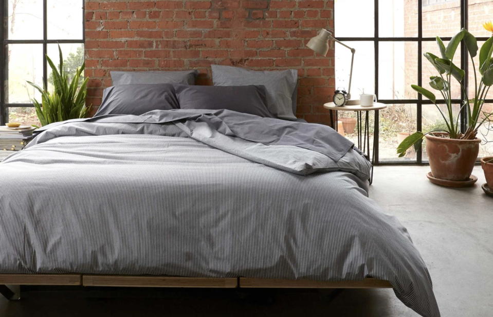 A classic sheet set that's anything-but-boring. (Photo: Brooklinen)