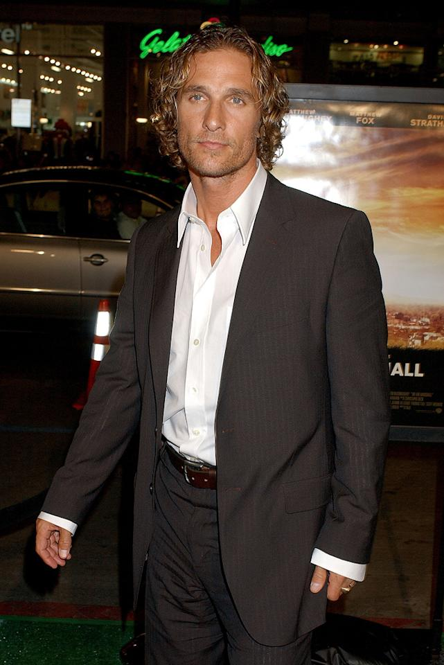 "<a href=""http://movies.yahoo.com/movie/contributor/1800018907"">Matthew McConaughey</a> at the Los Angeles premiere of <a href=""http://movies.yahoo.com/movie/1809267427/info"">We Are Marshall</a> - 12/14/2006"