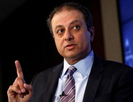FILE PHOTO: U.S. Attorney for the Southern District of New York Preet Bharara speaks during a Reuters Newsmaker event in New York