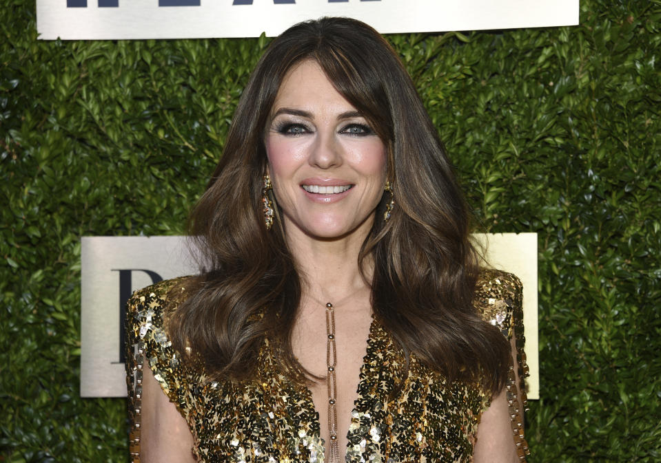 Model and actress Elizabeth Hurley arrives at The Lincoln Center Corporate Fund Fashion Gala honoring Leonard A. Lauder at Alice Tully Hall on Monday, Nov. 18, 2019, in New York. (Photo by Evan Agostini/Invision/AP)