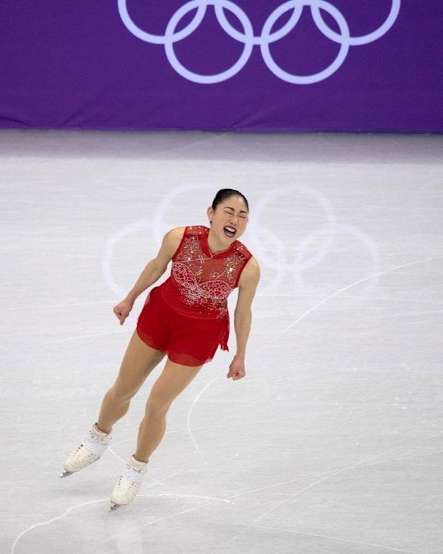 <p>Mirai Nagasu USA, figure skating<br>mirainagasu: Guys, what a day. These are the moments we work for. ❤️<br> (Photo via Instagram/mirainagasu) </p>