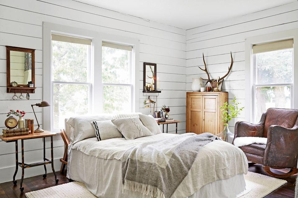 "<p>What better way to wake up to natural light than right next to a window? If you've got big ones, take full advantage by positioning your bed directly underneath and you'll <a href=""https://www.goodhousekeeping.com/health/g26326568/how-to-wake-up-early/"" rel=""nofollow noopener"" target=""_blank"" data-ylk=""slk:become a morning person"" class=""link rapid-noclick-resp"">become a morning person</a> in no time. </p><p><a href=""https://www.goodhousekeeping.com/home/decorating-ideas/g1880/decor-ideas-sun-room/"" rel=""nofollow noopener"" target=""_blank"" data-ylk=""slk:RELATED: 10 Sunroom Decorating Ideas That'll Brighten Your Space"" class=""link rapid-noclick-resp""><strong>RELATED:</strong> 10 Sunroom Decorating Ideas That'll Brighten Your Space</a></p>"
