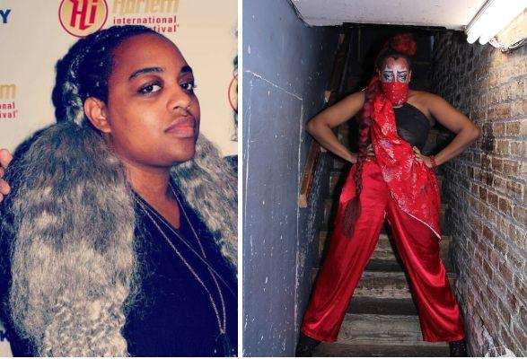 Cassandra Kendall out of drag (left), Lúc Ami in drag (right). (Photo: Courtesy of Cassandra Kendall/Who Is She Photos)