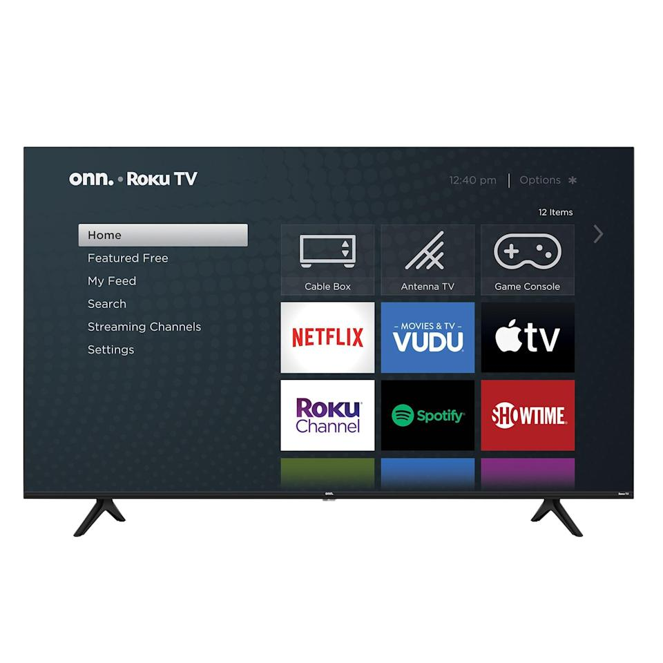 """<p>They'll be stocked to receive this <span>Onn 65"""" Class 4K UHD LED Roku Smart TV</span> ($228).</p>"""