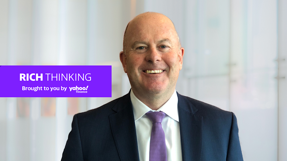 Image of KPMG CEO Andrew Yates with Yahoo Finance Rich Thinking banner