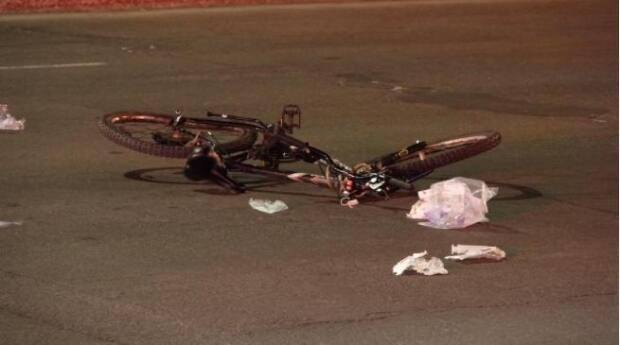 Montreal police say this morning's collision was a hit and run. (Mathieu Wagner/Radio-Canada - image credit)