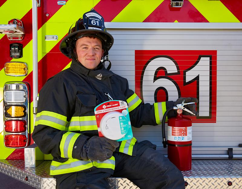Select departments will receive free First Alert smoke and CO alarms along with educational materials.
