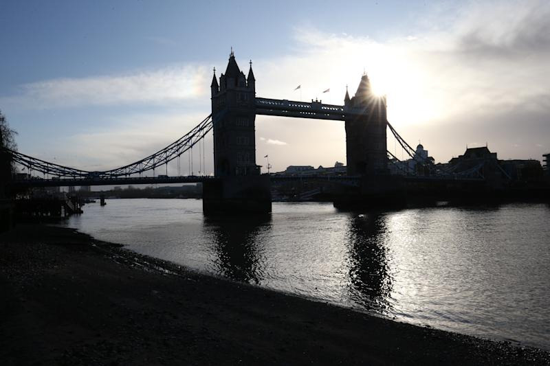 Tower Bridge as viewed from the Middle Wharf of the Tower of London. PA Photo. Picture date: Sunday December 15, 2019. Photo credit should read: Jonathan Brady/PA Wire (Photo by Jonathan Brady/PA Images via Getty Images)
