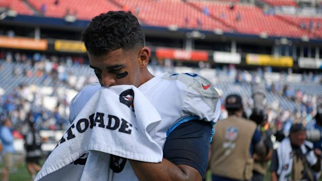 Titans podcast: Marcus Mariota, O-line continue to be problematic