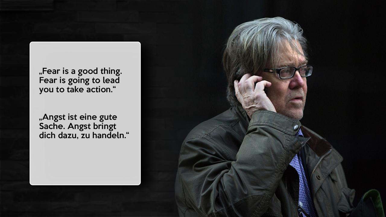 "<p>Steve Bannon 2010 in einem Interview mit der ""New York Times"".<br /> Bild: AP Images </p>"