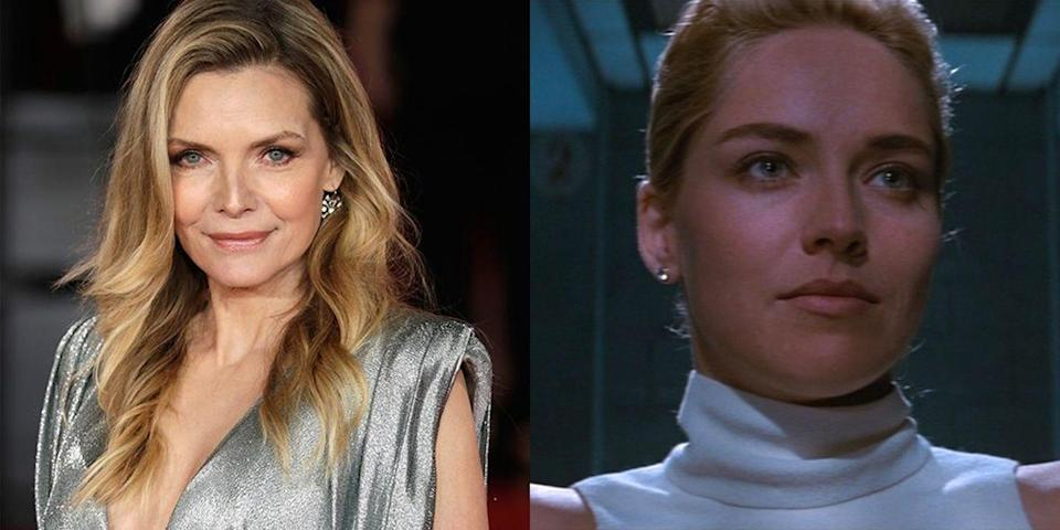 """<p><em>Basic Instinct </em>is Sharon Stone's most successful movie to date—and the actress has Michelle Pfeiffer to thank for <a href=""""https://people.com/movies/michelle-pfeiffer-why-she-passed-on-pretty-woman-basic-instinct/"""" rel=""""nofollow noopener"""" target=""""_blank"""" data-ylk=""""slk:passing on the thriller"""" class=""""link rapid-noclick-resp"""">passing on the thriller</a> in the first place. </p>"""