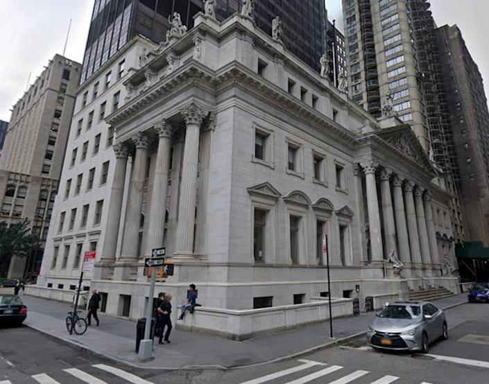 The appellate division of the New York State Supreme Court is pictured above.