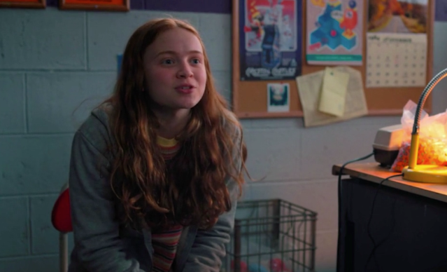 Max (Sadie Sink) shares her thoughts on what happened in the previous season of <em>Stranger Things</em>. (Photo: Netflix)