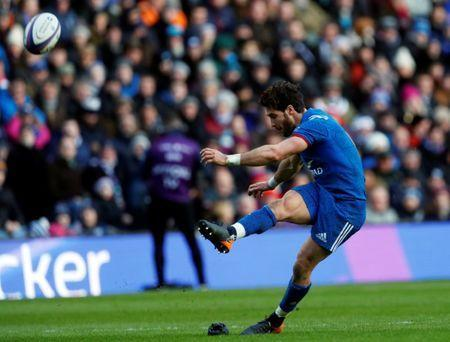 Rugby Union - Six Nations Championship - Scotland vs France - BT Murrayfield, Edinburgh, Britain - February 11, 2018 France's Maxime Machenaud in action REUTERS/Russell Cheyne