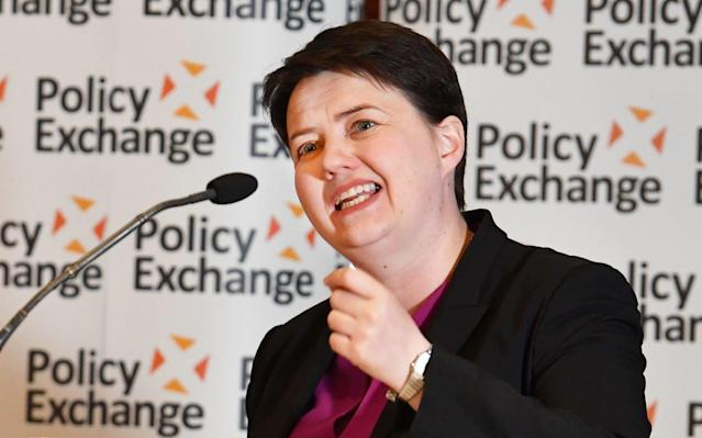 Scottish Conservative leader Ruth Davidson during her address to the policy Exchange conference titled The Union and Unionism - Past, Present and Future - PA