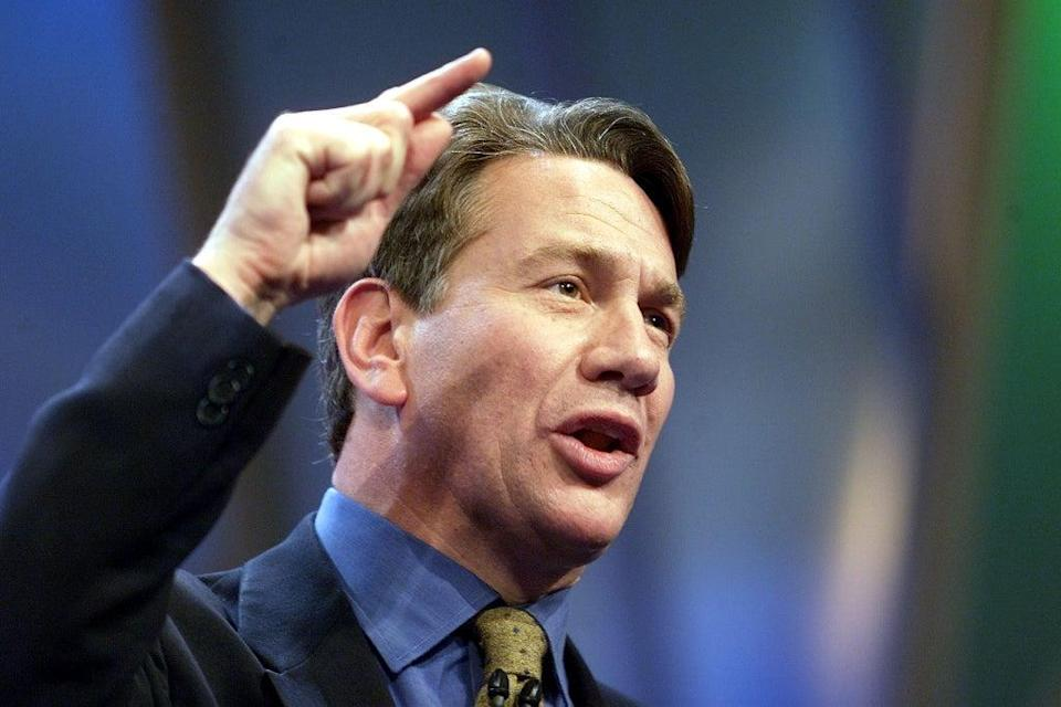 Michael Portillo, inauthentic pretender to the Tory leadership reinvented as a brightly coloured TV presenter (AFP via Getty Images)