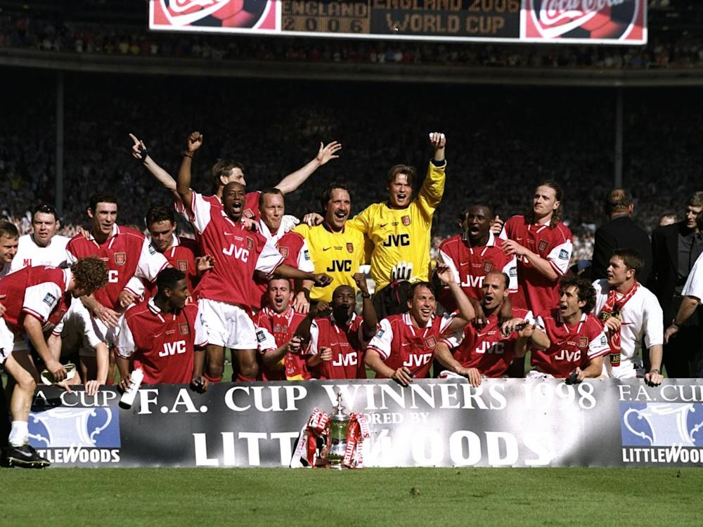 Wenger won his first FA Cup with Arsenal in 1998 (Getty)