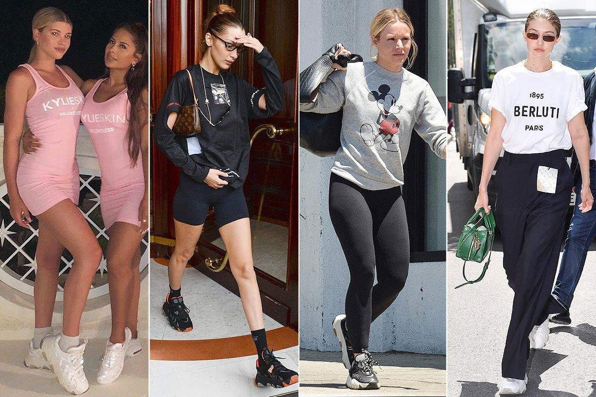 "There's nothing an ""It girl"" loves more than a chunky dad sneaker. Just ask Gigi and Bella Hadid, Sophia Richie and Kirsten Bell who have all stepped out in the same trendy kicks from ASH. The footwear brand's ""Extreme Sneaker"" might set you back $200, but wearing them in an Instagram photo will last a lifetime.  <strong>Buy It!</strong> ASH Extreme Sneaker, $200; <a href=""https://www.ash.com/us/en/ss19-extreme-silver.html"">ash.com</a>"