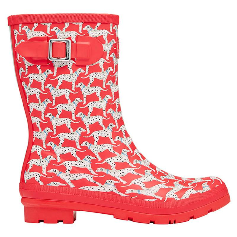 Joules Women's Molly Mid Printed Rain Boot. Image via Sporting Life.