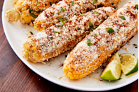 """<p>Forget plain old butter — these kernels get the star treatment.</p><p>Get the recipe from <a href=""""https://www.delish.com/cooking/recipe-ideas/recipes/a47269/mexican-street-corn-elote-recipe/"""" rel=""""nofollow noopener"""" target=""""_blank"""" data-ylk=""""slk:Delish"""" class=""""link rapid-noclick-resp"""">Delish</a>.</p>"""